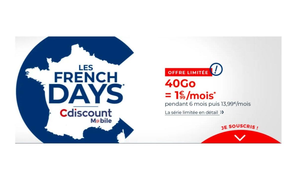 cdiscount mobile french days 40 go 199mois 1200x777 - les meilleures offres pour faire de (vraies) bonnes affaires