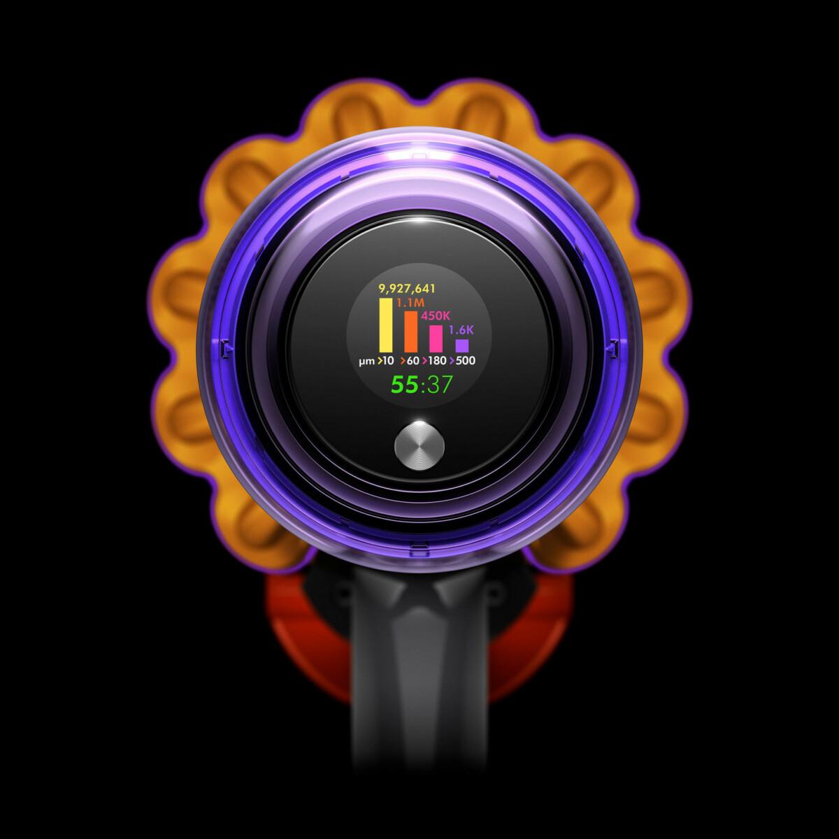 L'aspirateurV15 Detect affiche les polluants dans votre intérieur