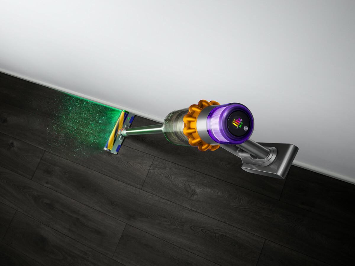 Le V15 Detect utilise son laser pour voir la poussière