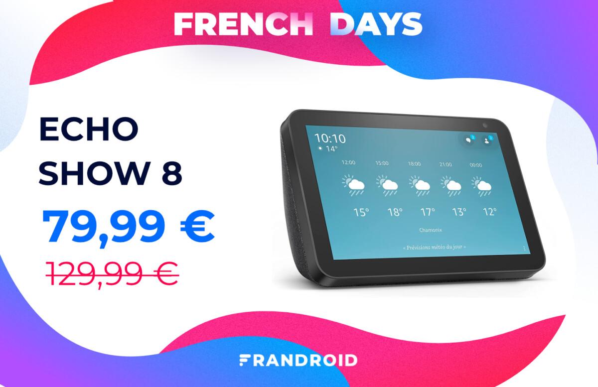echo show 8 french days 1200x777 - Amazon fait aussi les French Days avec des tonnes de promotions dans son catalogue