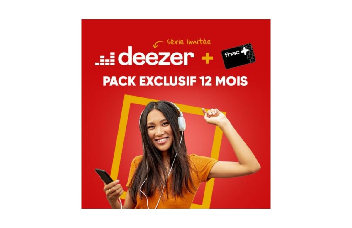 La carte Fnac+ avec Deezer premium revient à 5 €/mois grâce à cette offre