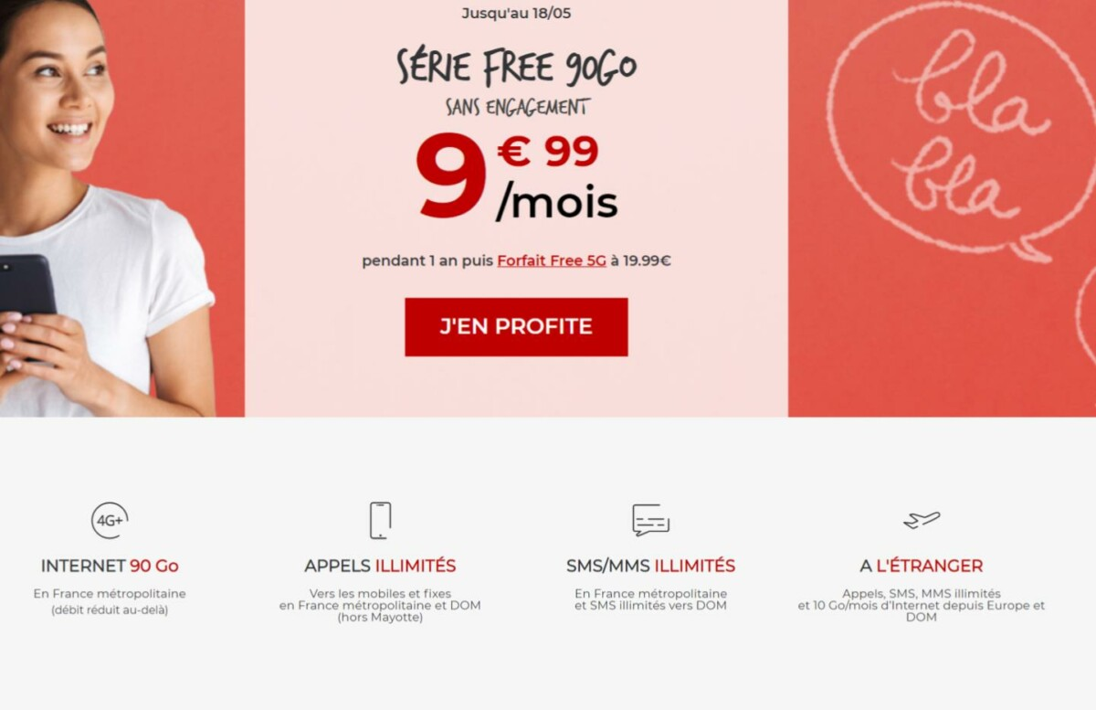 Derniers jours pour profiter du forfait Série Free 90 Go à 9,99 €/mois