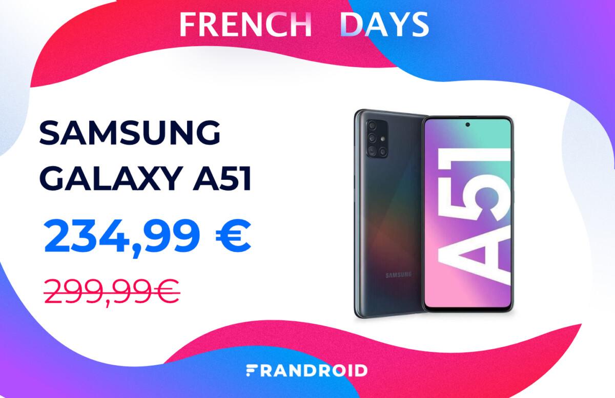 L'incontournable Samsung Galaxy A51 est en promo pour les French Days