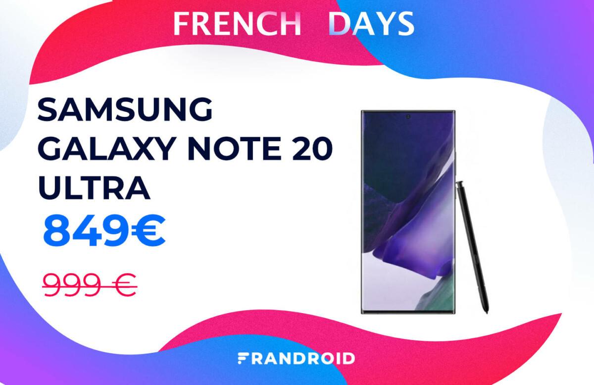 Le Samsung Galaxy Note 20 Ultra est de retour à prix réduit grâce aux French Days