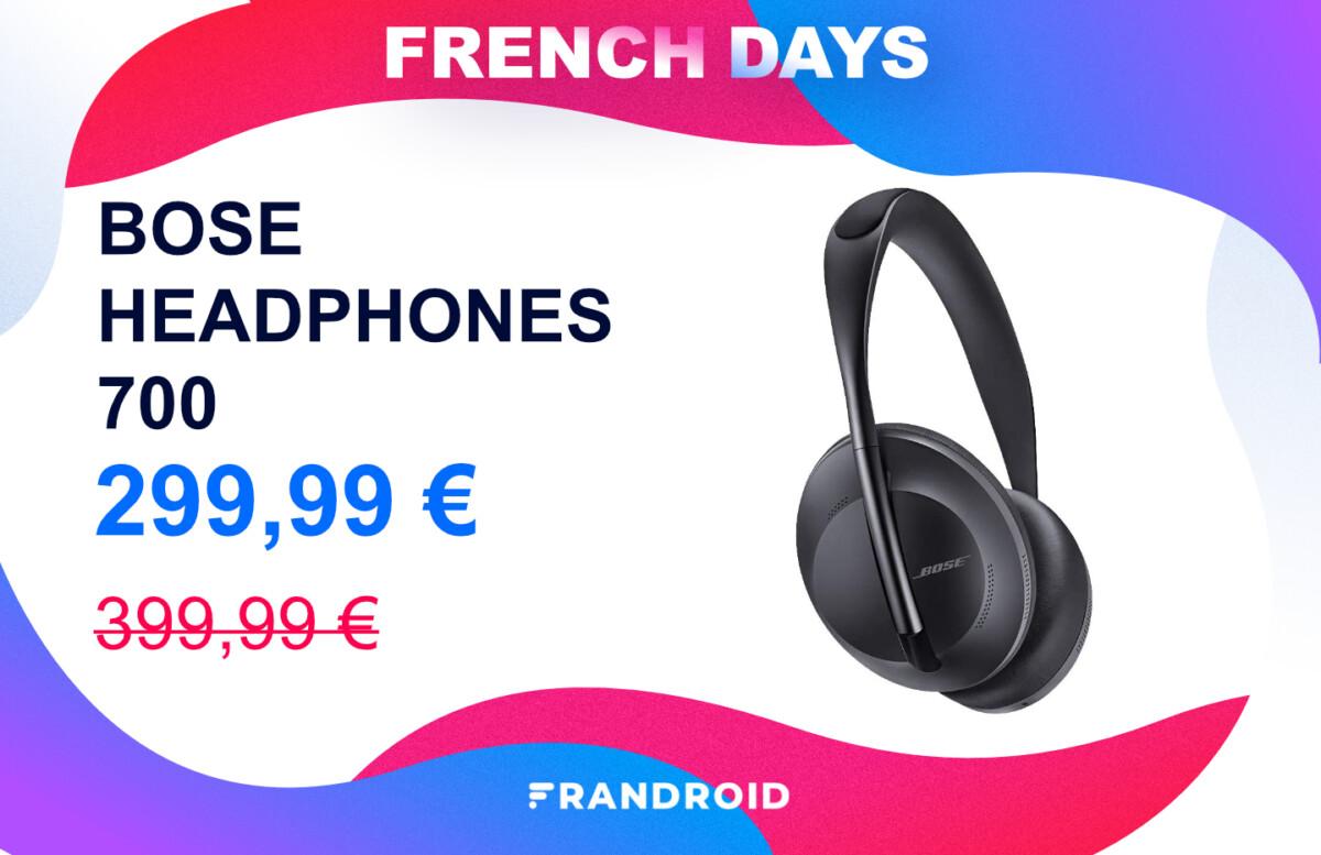frenchdays2021 produit unique 2 1200x777 - L'excellent casque audio Bose Headphones 700 profite lui aussi des promotions