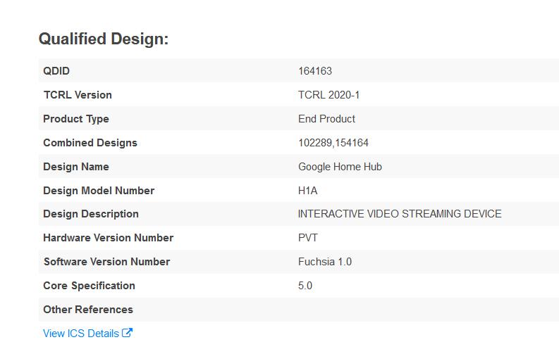 Fuchsia : un appareil doté de la version 1.0 de l'OS de Google a été repéré
