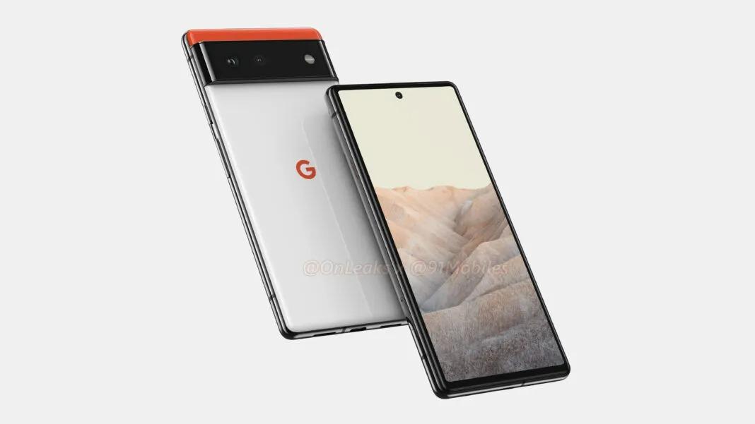 Rendu du Google Pixel 6