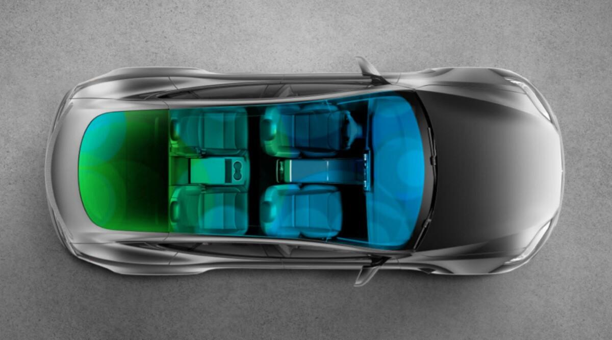 22 Hauts-Parleurs avec réduction active du bruit équipent la Tesla Model S