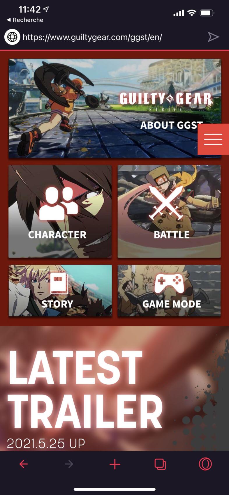 En cliquant sur le titre d'un jeu, vous êtes orientés vers le site officiel