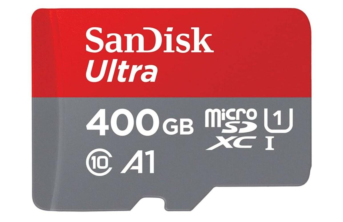 Le prix de la microSDXC 400 Go SanDisk Ultra est au plus bas sur Amazon