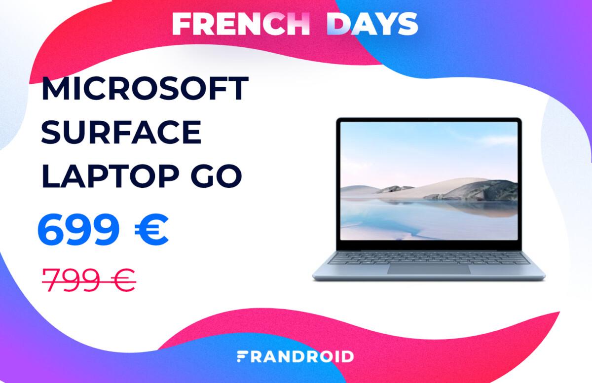 Le prix du Microsoft Surface Laptop Go baisse de 100 € pour les French Days