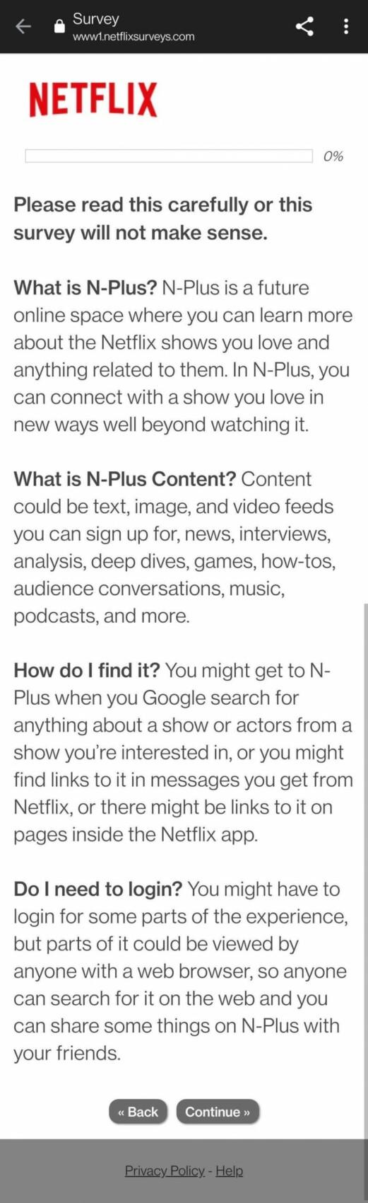 Netflix sonde ses utilisateurs sur la possibilité d'une plateforme de contenus complémentaires N-Plus