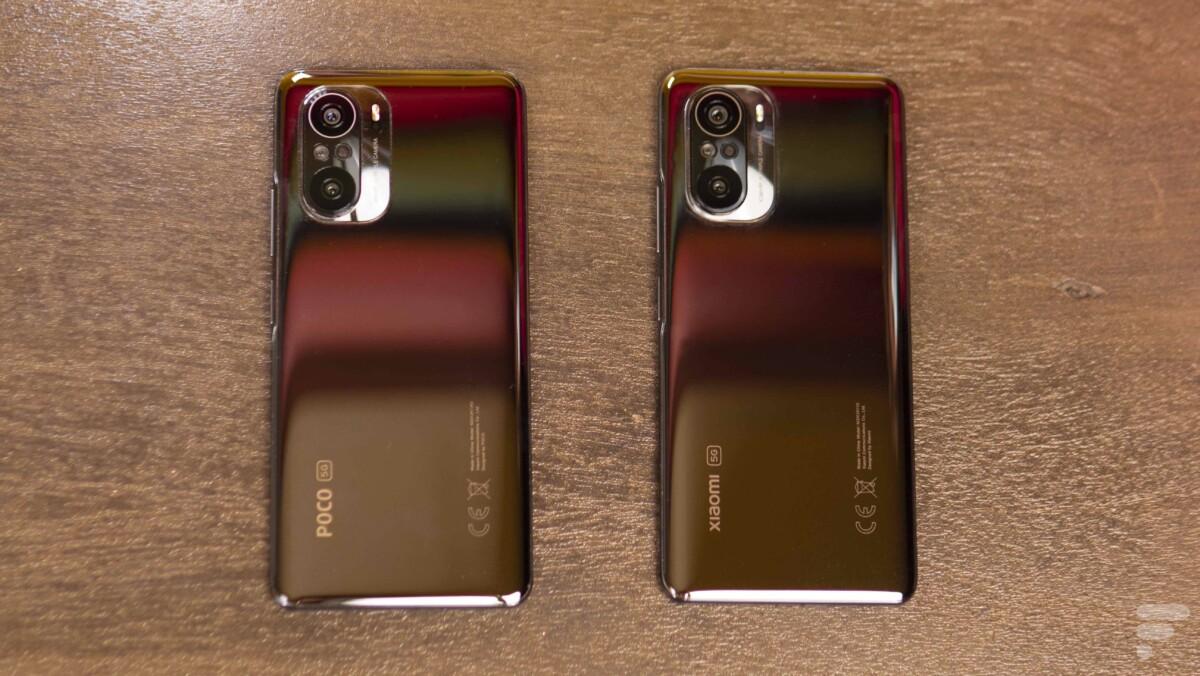 À gauche, le Poco F3. À droite, le Xiaomi Mi11i. La ressemblance est frappante.