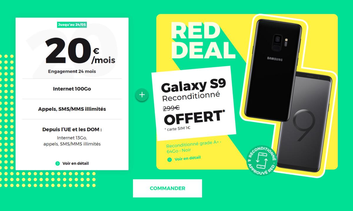 red by sfr galaxy s9 1200x716 - Grâce à ce forfait mobile illimité, le Samsung GalaxyS9 reconditionné vous est offert