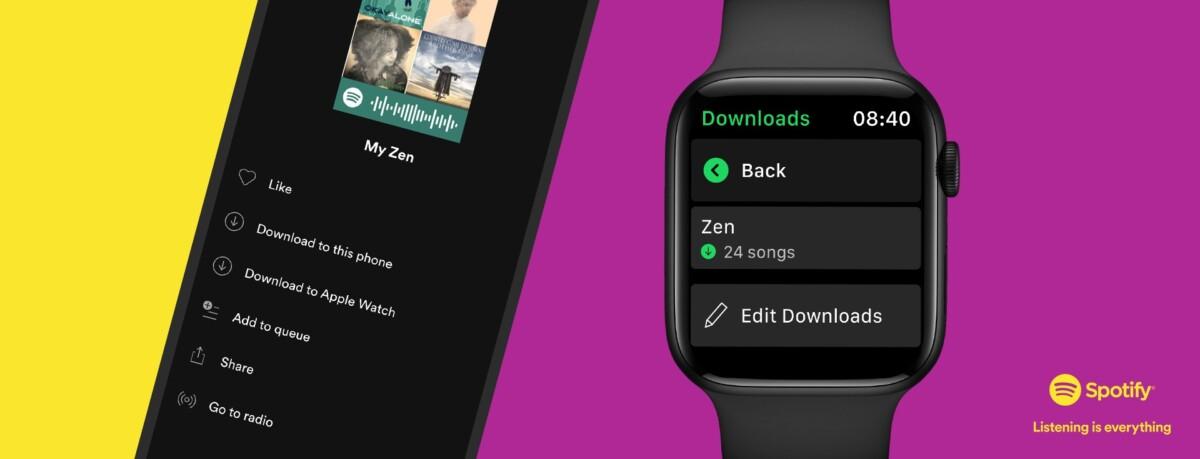 Téléchargez des musiques Spotify sur votre Apple Watch