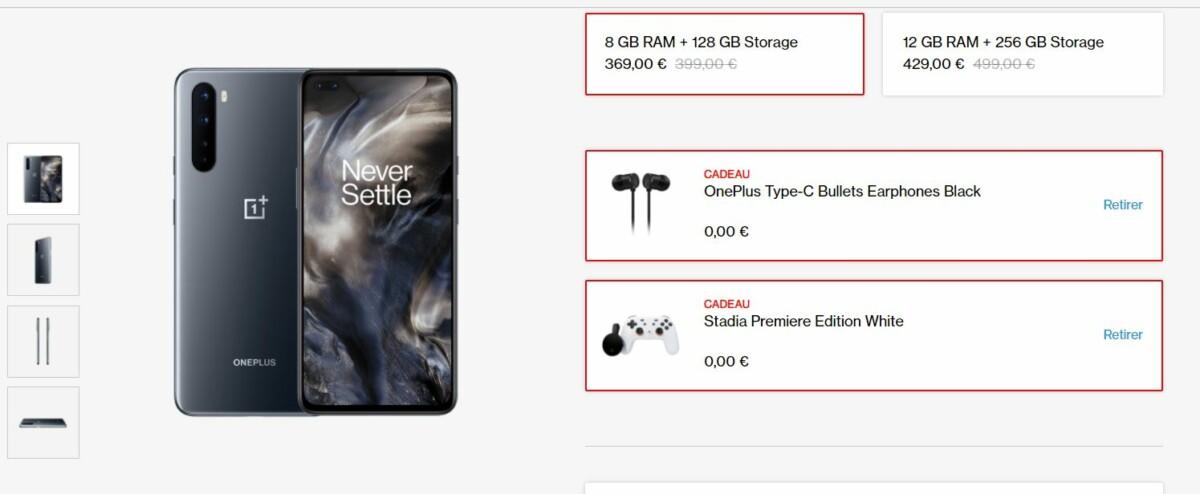 Un smartphone OnePlus acheté = un kit Stadia offert (manette et Chromecast Ultra)