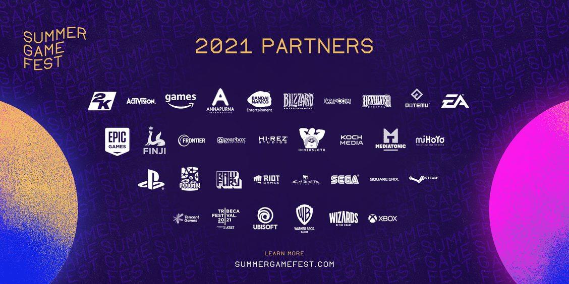 La liste des premiers participants au Summer Game Fest2021