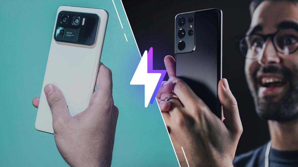 Le Xiaomi Mi 11 Ultra et le Samsung Galaxy S21 Ultra
