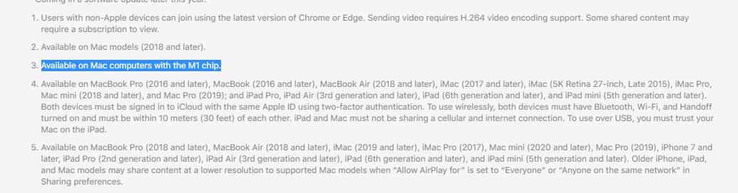 Notes de bas de page macOS Monterey