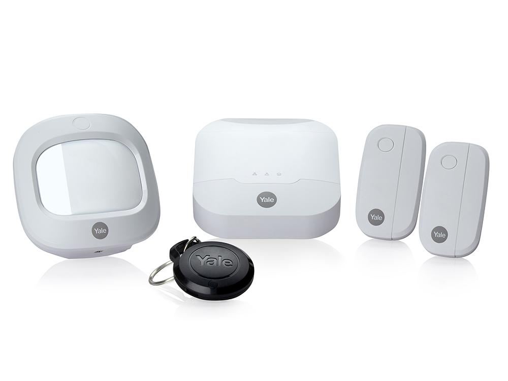 Le nouveau kit d'alarme intelligente Sync avec ses accessoires