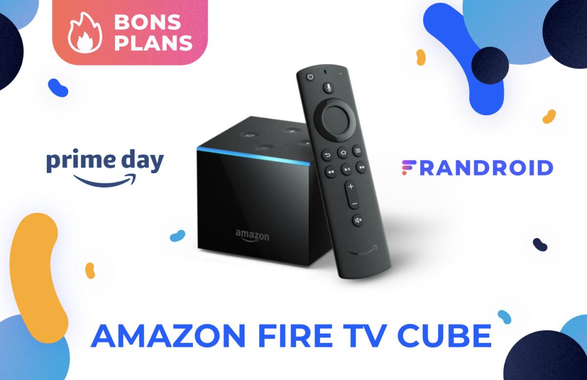 Promotion sur le Fire TV Cube d'Amazon pendant le Prime Day 2021 sur Amazon