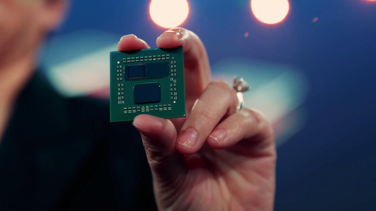 Prototype d'un CPU Ryzen 9 5900X avec V-Cache 3D