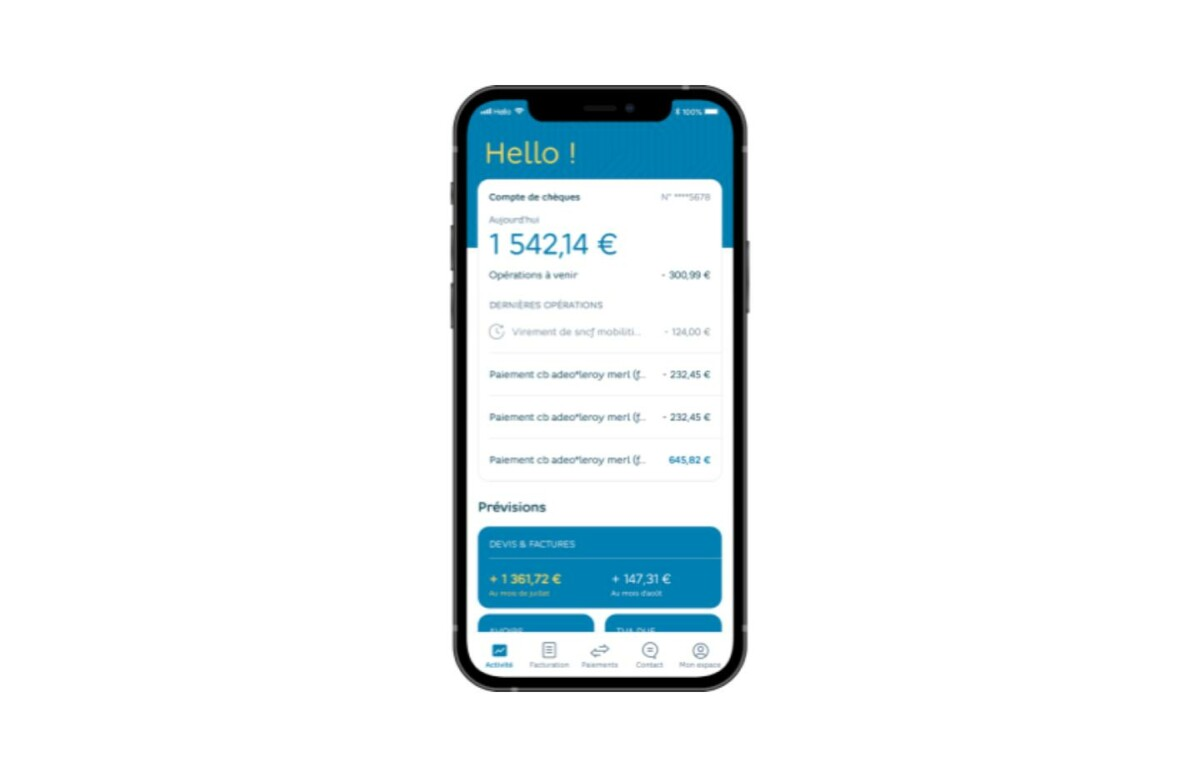 L'application mobile d'Hello bank! est claire et facile à utiliser