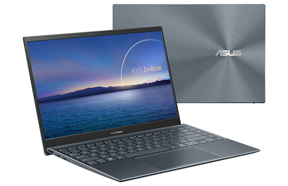 Le Asus ZenBook UX425EA vu de devant et de derrière