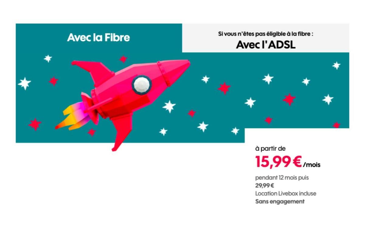 La boîte Sosh avec Fibre ou ADSL est à seulement 15,99 € par mois