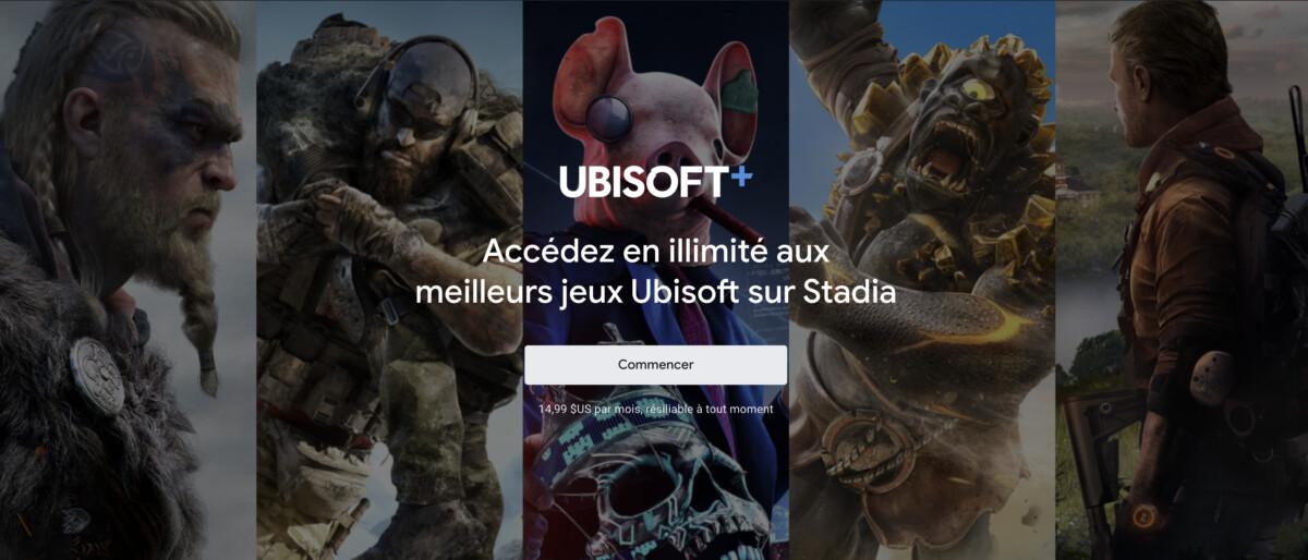 Google Stadia : Ubisoft+ arrive en France en bêta
