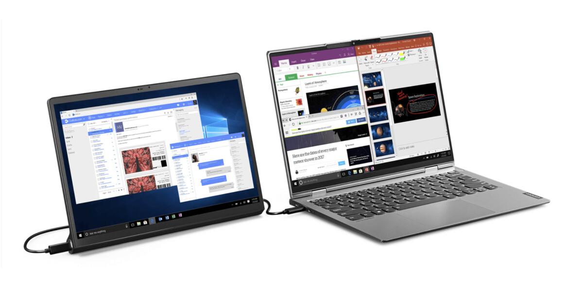 La Yoga Tab peut se raccorder à un PC via un câble mini-HDMI