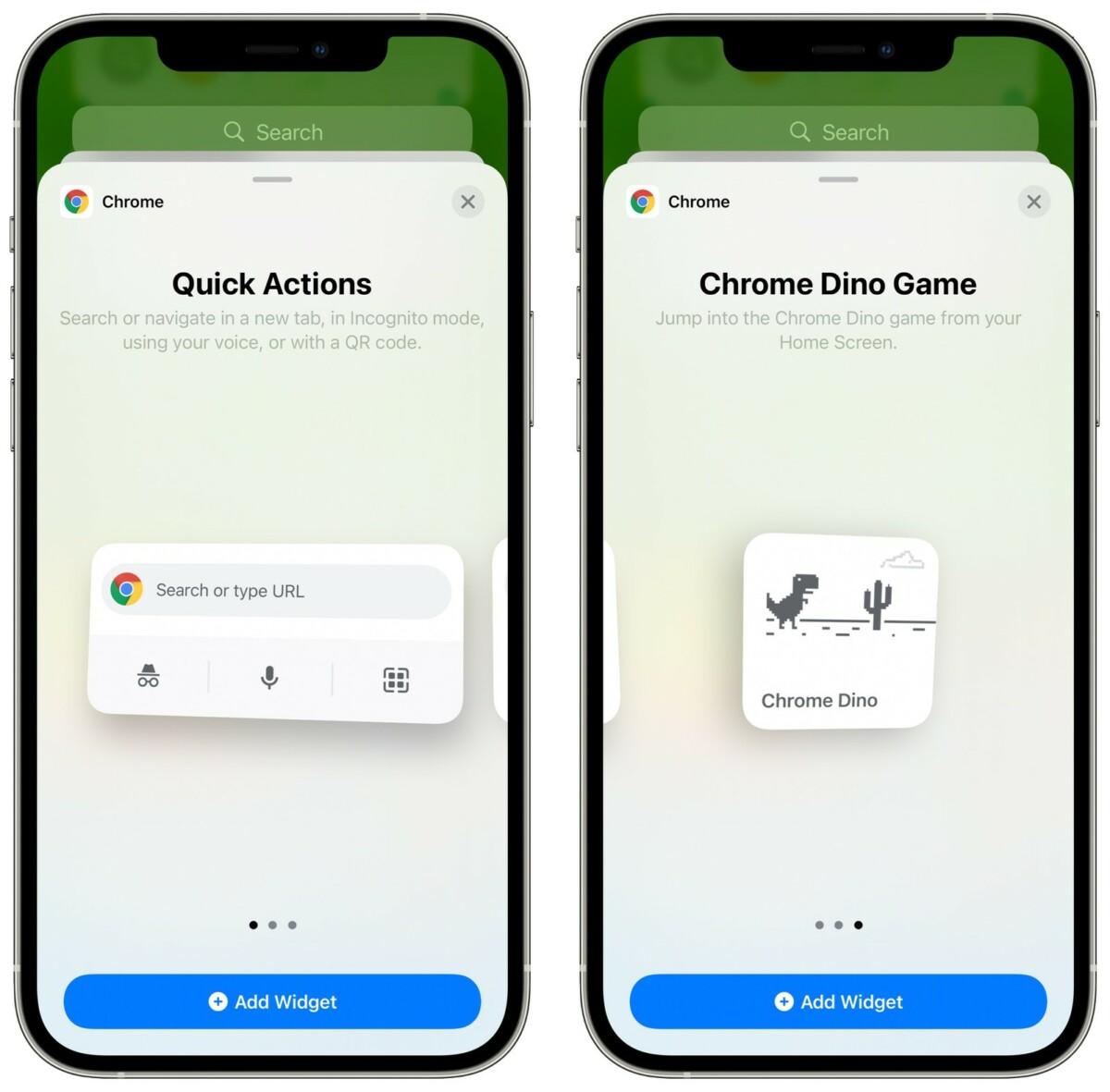 Un raccourci vers le jeu du Dino de Chrome existe déjà sur iOS
