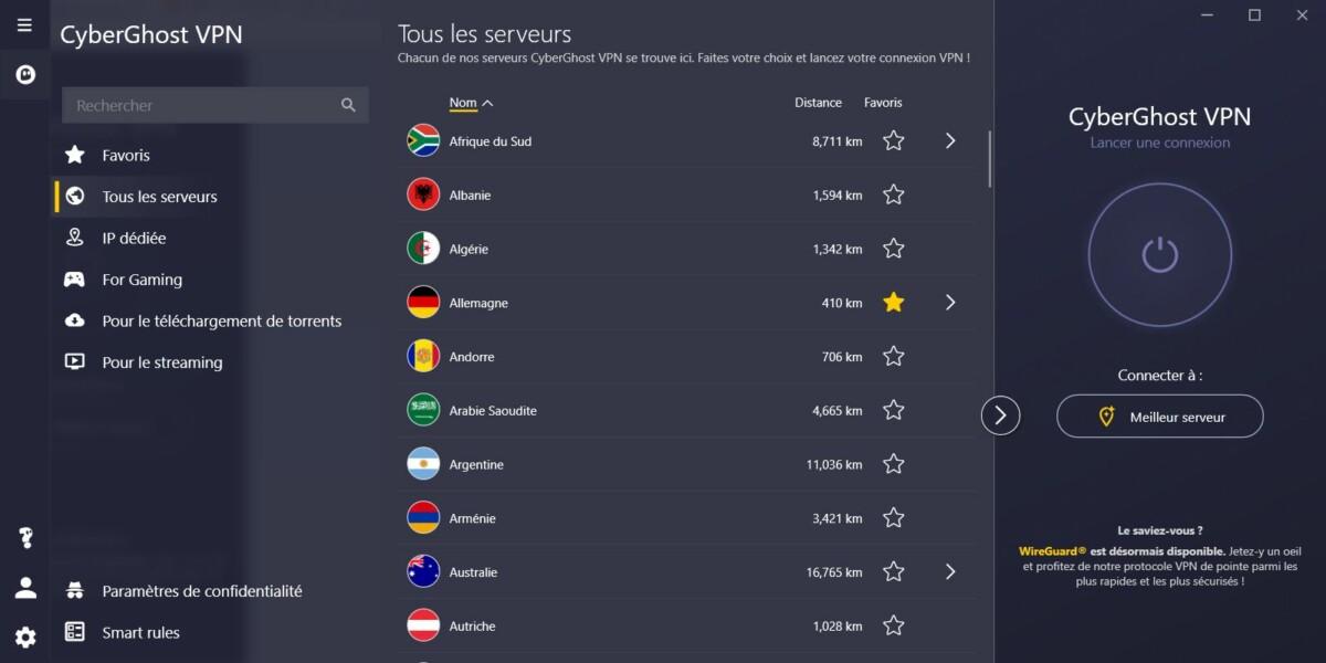Avis CyberGhost : un VPN facile d'accès, mais moyennement digne de confiance