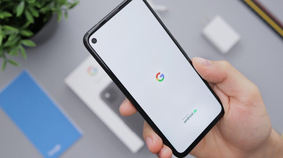 L'application Google sur un smartphone Android
