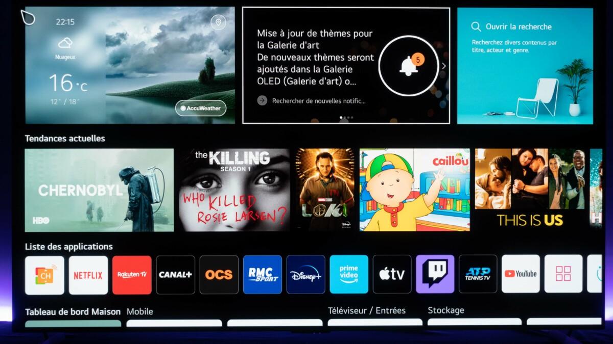 La page d'accueil de WebOS 6 / Source : D. Nogueira