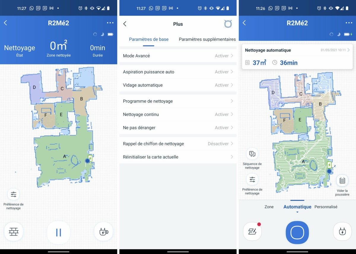 L'application Ecovacs Home permet de voir la carte de son logement.