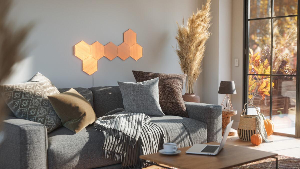 elements 7x living room autumn 4000x2250 1 1200x675 - Nanoleaf s'inspire de la nature pour ses nouveaux éclairages