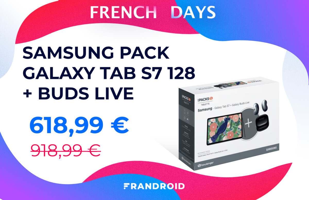 French Days : ce pack Samsung Galaxy Tab S7 + Buds live coûte 300 € de moins