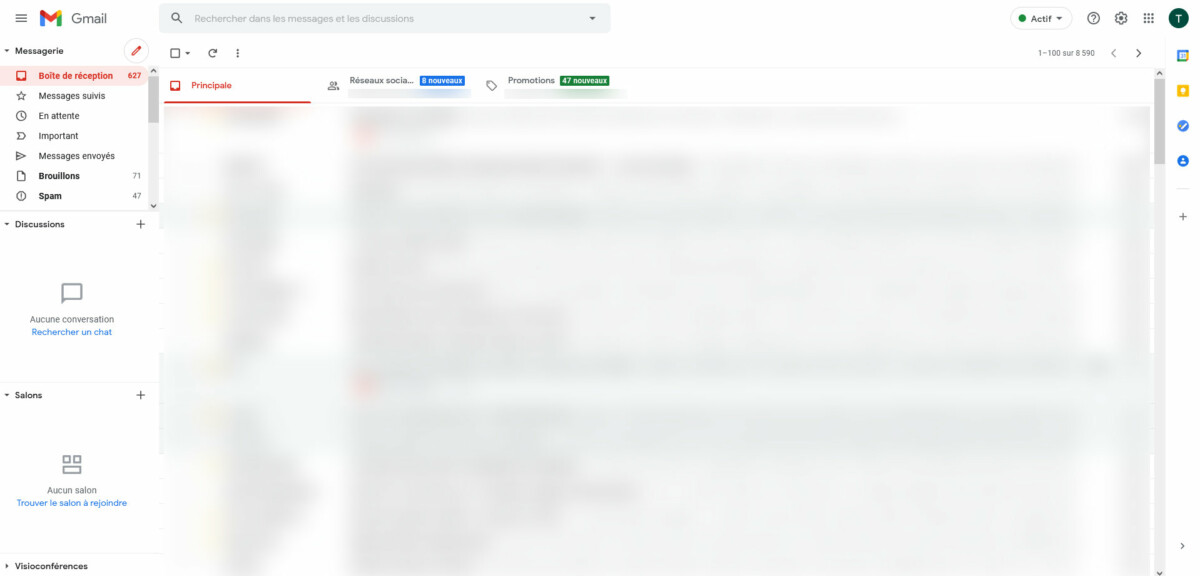 Nouvelle interface Gmail