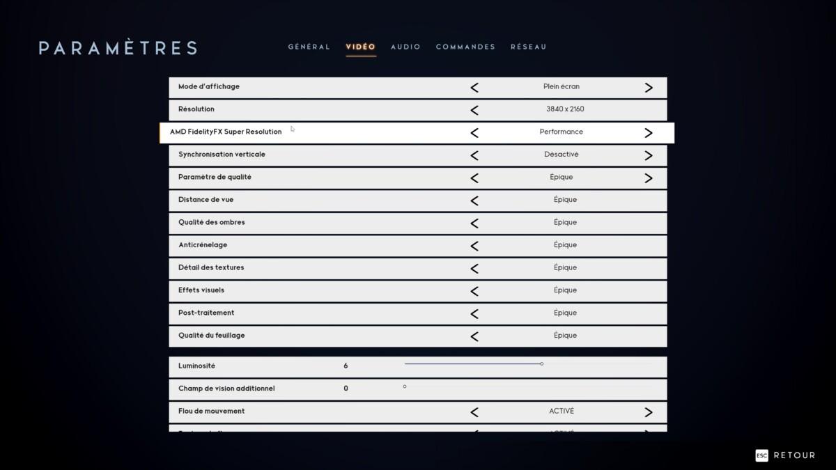Une simple option à activer dans les paramètres du jeu