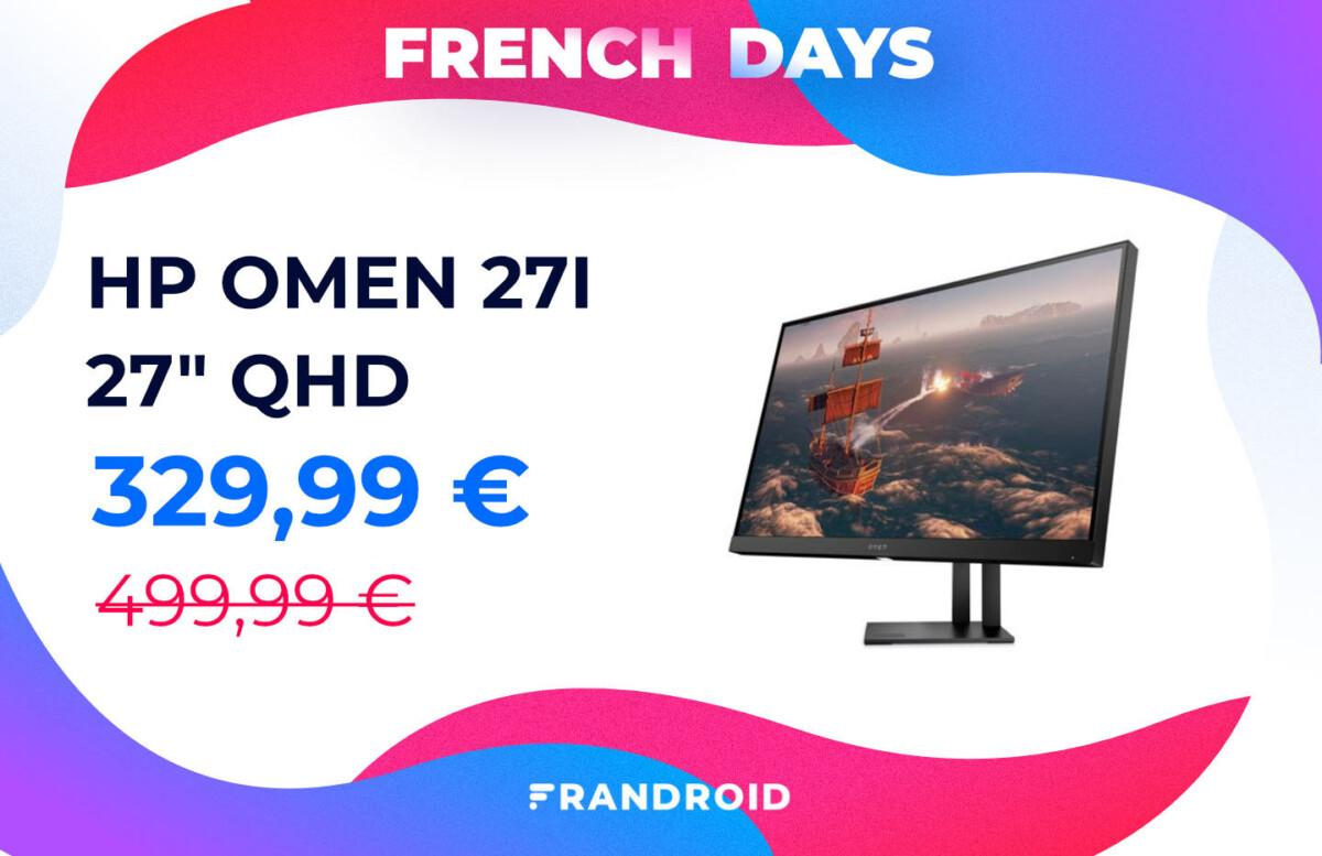 hp omen 27i french days 1200x777 - un écran PC gaming QHD et 165 Hz avec 170 € de réduction