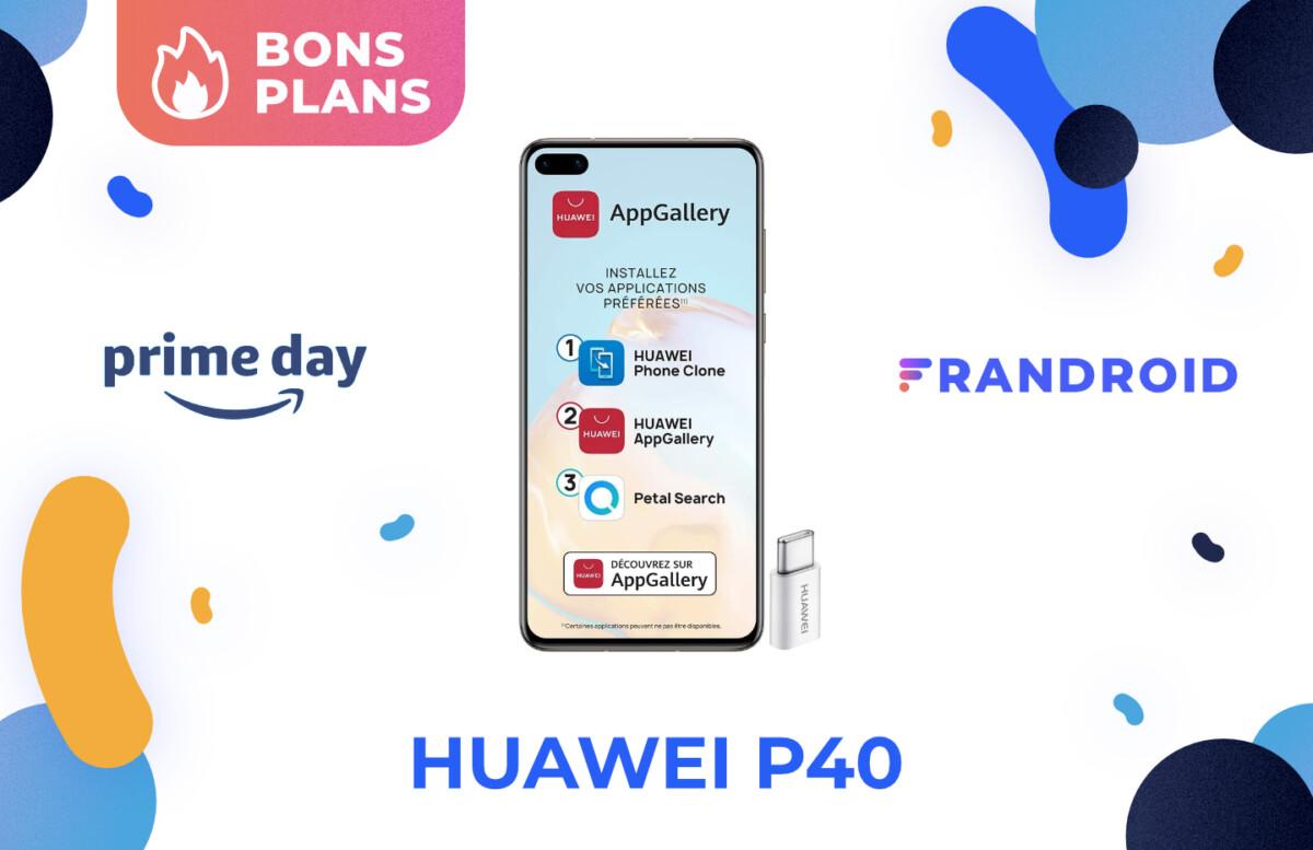 Promotion sur le Huawei P40 pendant le Prime Day 2021 sur Amazon
