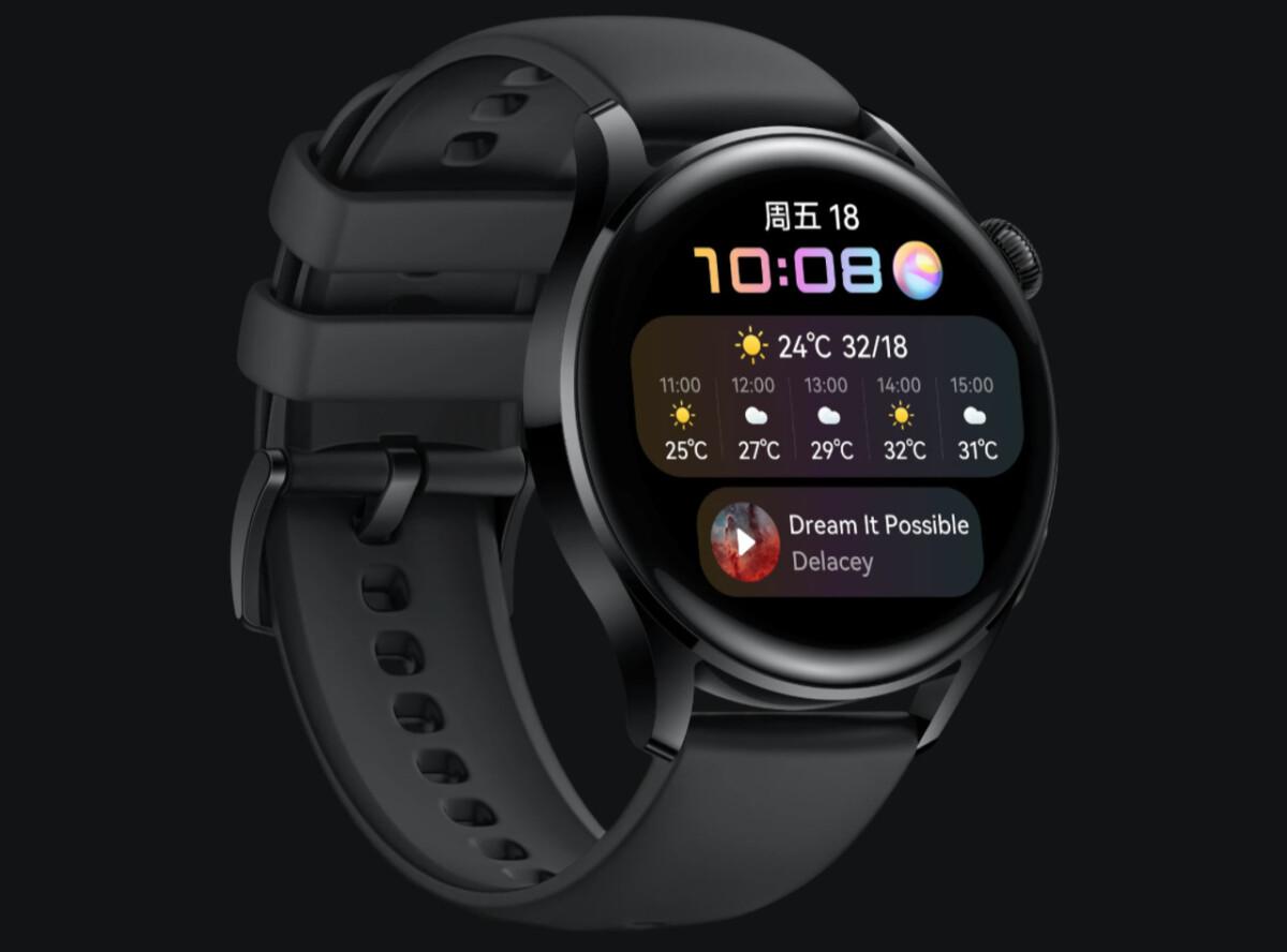 L'écran de la Huawei Watch3 // Source: Huawei