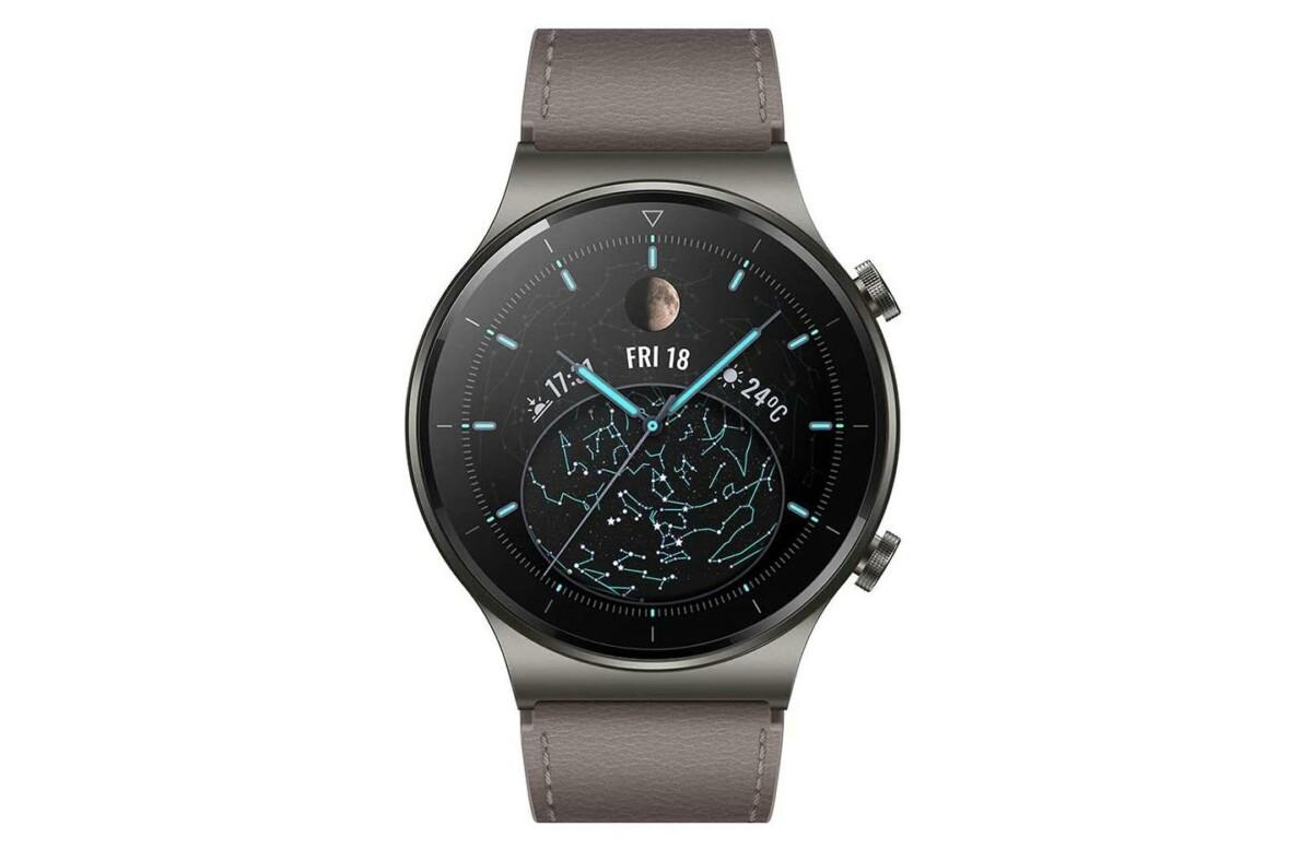 Huawei Watch GT 2 Pro de face en coloris titane