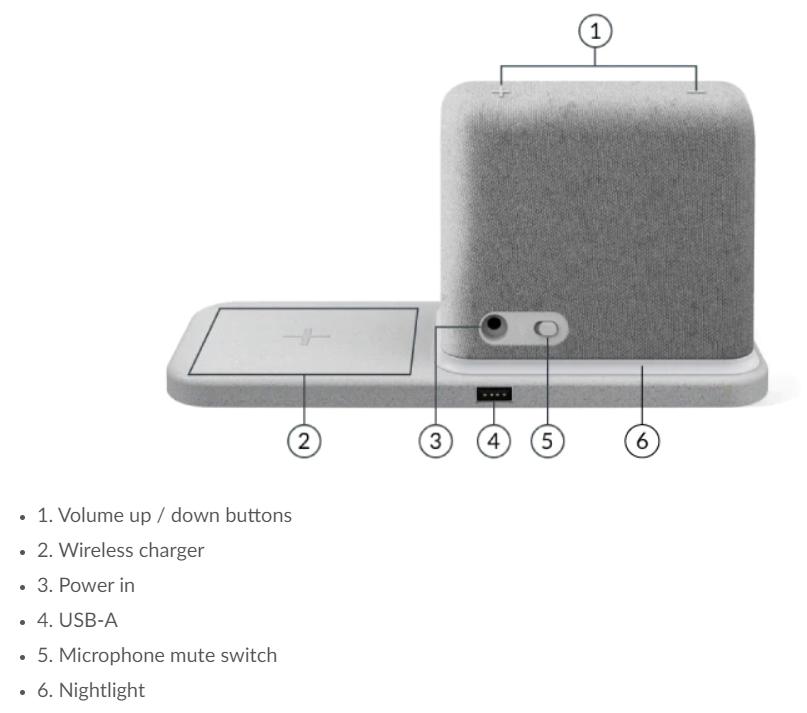 Le Lenovo Smart Clock2 et son tapis de charge