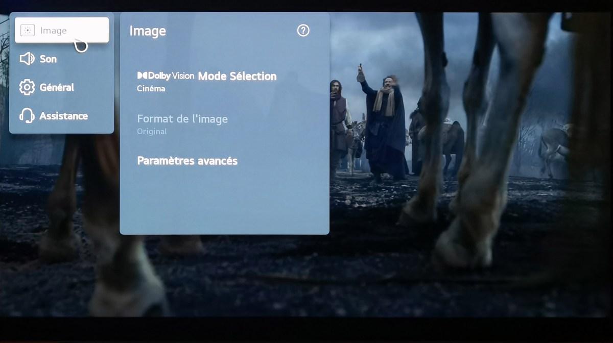 Le téléviseur est compatible Dolby Vision et passe automatiquement dans ce mode lorsqu'il détecte des contenus adéquats.