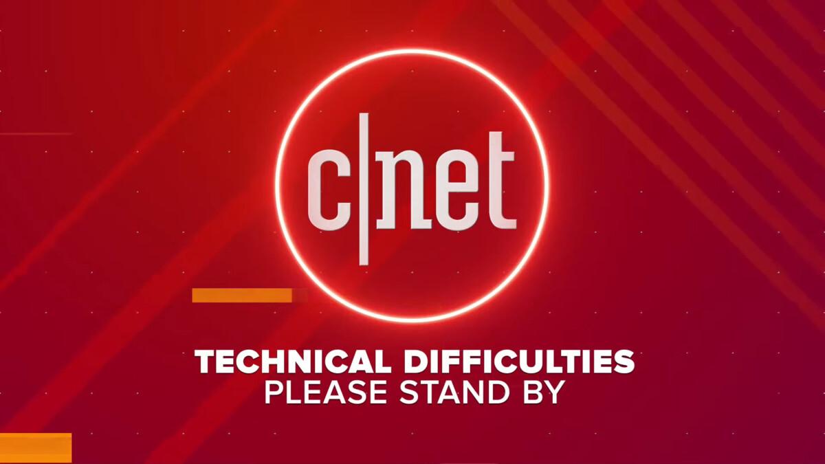 La conférence a eu des problèmes techniques, ici mis en avant par le flux de Cnet