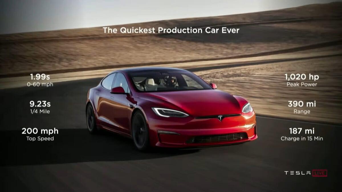 model s plaid delivery event 19 8 screenshot 1200x675 - Elon Musk fait la démonstration sur scène des capacités de la voiture