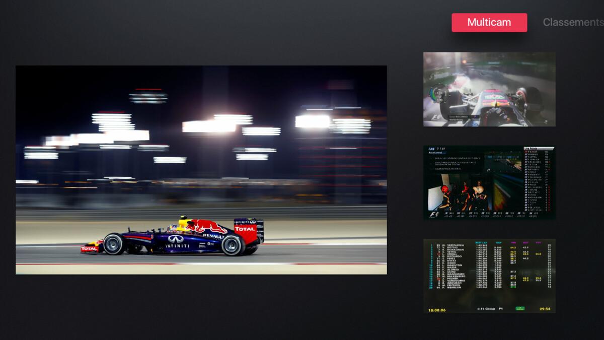 Le mode Expert de MyCanal lors d'une course de Formule1