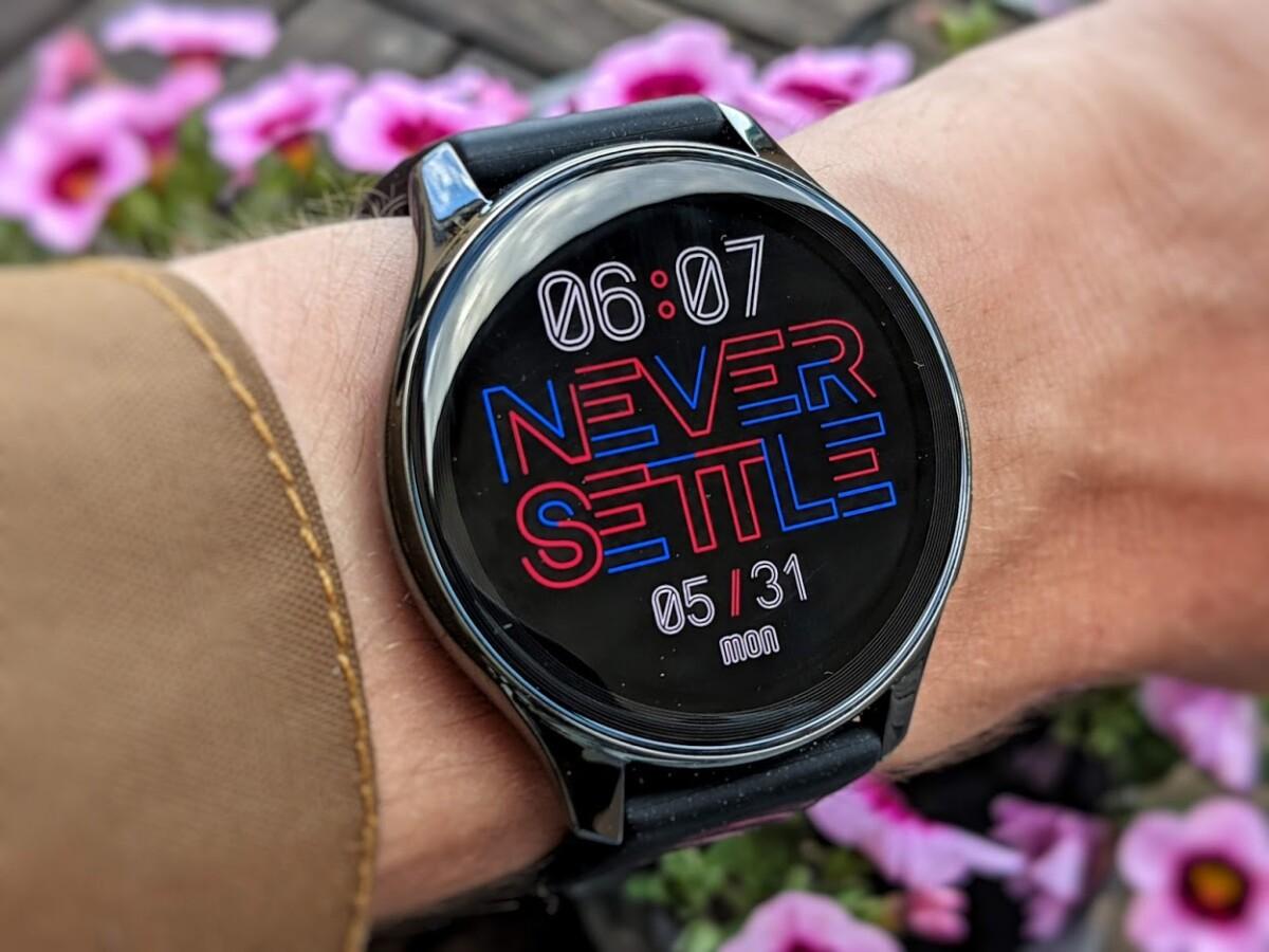 La OnePlus Watch et son cadran «Never Settle»